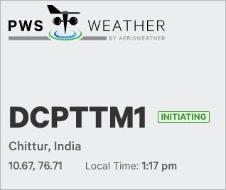 PWSWeather Dashboard for Tattamangalam